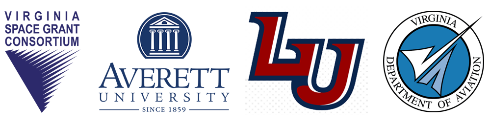 Averett University, Liberty University, Virginia Space Grant Consortium logos