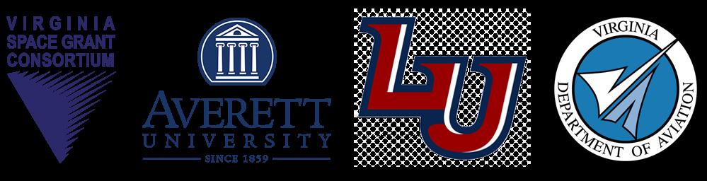 Averett University, Liberty University, Virginia Space Grant Consortium logos